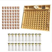 Bijenteelt Gereedschap Set Koningin Opfok Systeem Cultiveren Box 120 Mobiele Cups Bee Nicot Compleet Catcher Kooi Bijenteelt Apparatuur