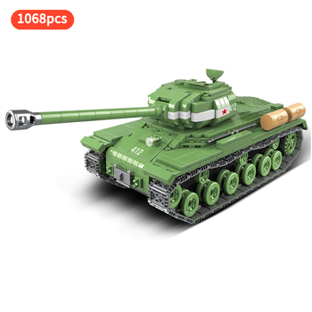 IS-2M(JS-2) Heavy Tank Truck legion Military ww2 Tank Army Minifigs Soldier Figures Building Blocks Toy For Children Gift