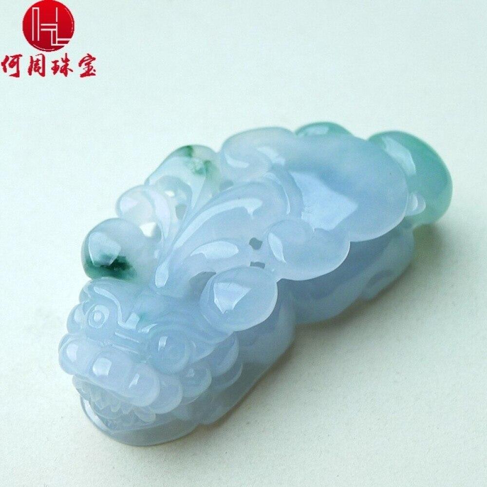 Hezhou jewelry!Myanmar natural jade!Exquisite hand carving!PI wild pendant!Exquisite workmanship!  28.81g 1