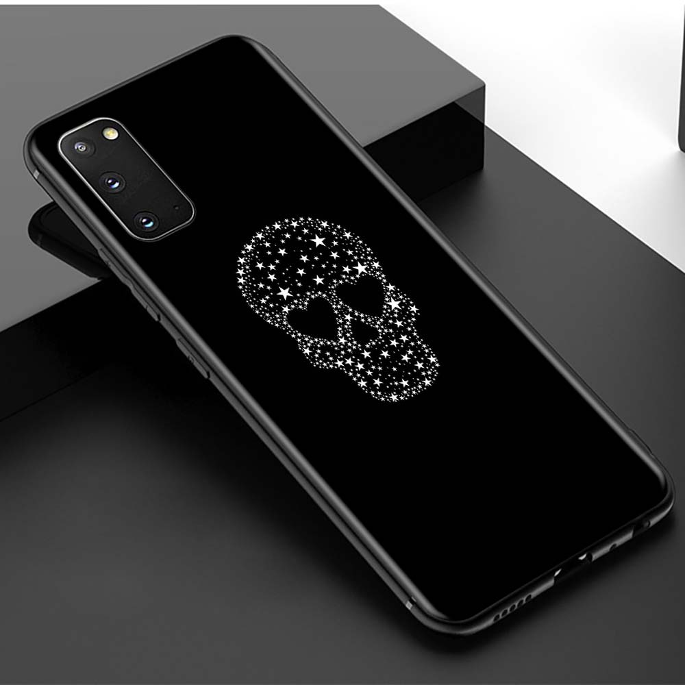 Cute Skull Rose Flower Shell For Samsung Galaxy S20 FE S21 Ultra Lite 5G Capa For SAMSUNG S20 S10 S8 S9 Plus S10e TPU Coque