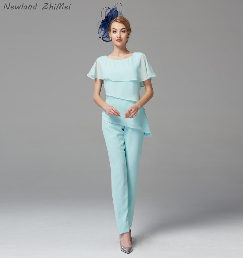 Vestiti Eleganti Con Pantalone.Nuovo Arrivo 2020 Menta Verde Madre Della Bide Vestito Con