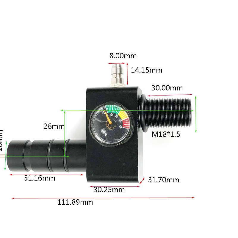 PCP سلاح الجو كوندور Z صمام اختبار صمامات M18x1.5 مدخل 8 مللي متر ملء الحلمة 300bar/4500psi 26 مللي متر اتمركزية