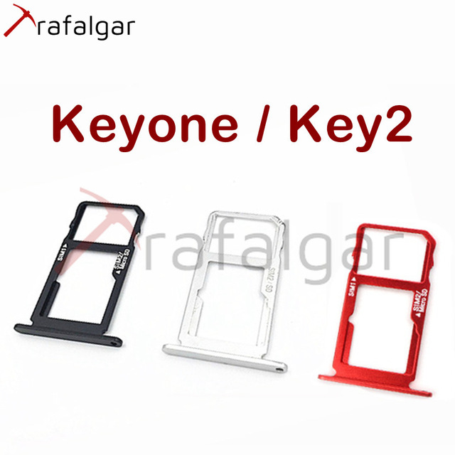Plateau de carte SIM SD pour BlackBerry Key2 support SIM Dtek70 adaptateur de prise de fente pour carte Micro SD pour BlackBerry Keyone plateau SD remplacer