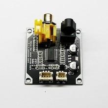 24bit 192khz dac digital decodificador de áudio de fibra óptica coaxial entrada sinal digital saída estéreo decod placa