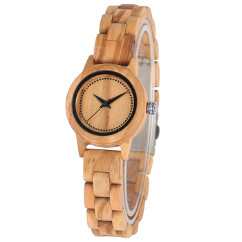 Natural Full Wooden Watch for Women with Folding Safety Clasp Wood Strap Bracelet Wristwatch Clock Gift Female horloge dames sailor moon analog wrist watch for girl women clock rose gold mesh strap reloj female bracelet wristwatch gift horloge dames