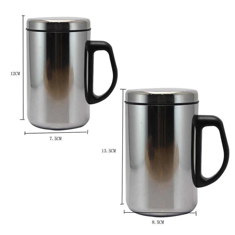 350/500ml สแตนเลสสตีลผนังคู่ฉนวนถ้วย Thermo แก้วน้ำขวดชากาแฟแก้วขวด