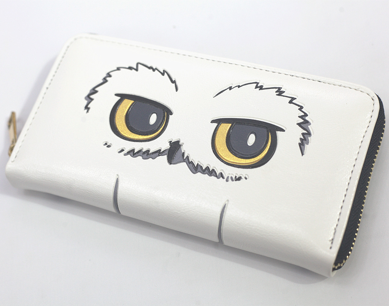 H.Potter Owl Hedwig Mens Women Zipper-around Wallet Coin Purse Cartoon Unisex Wallets ID/Credit Card Holder