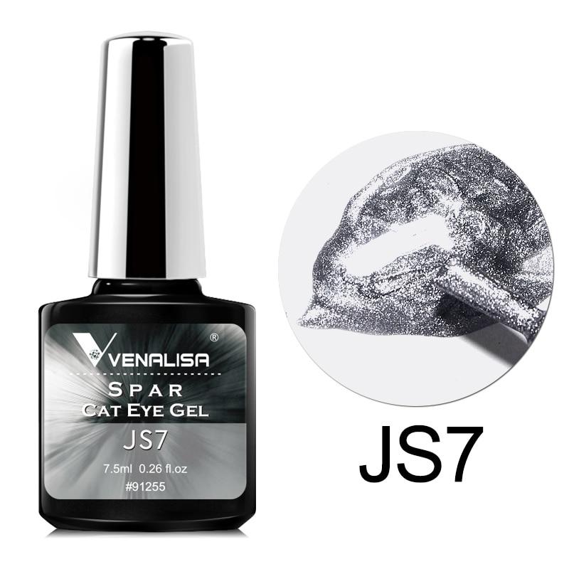 Venalisa Transparent Gel Polish Varnishes Hybrid Nails For Manicure 7.5ML Ice Spar Cat Eyes Soak off Enamel UV Gel Nail Polish 6