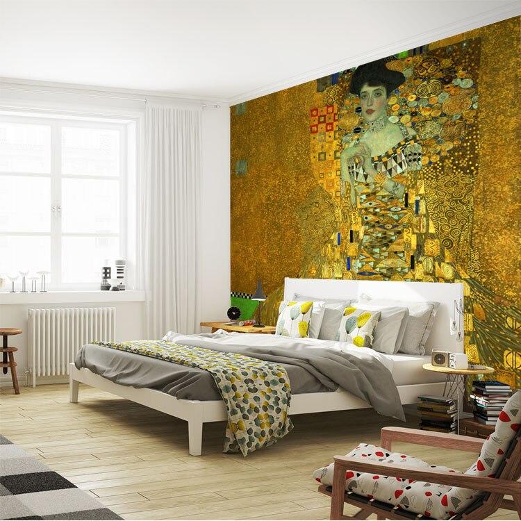 Portrait-of-Adele-Bloch-Bauer-I-Murals-Gustav-Klimt-Painting-Art-Wallpaper-Custom-Large-photo-wallpaper (2)