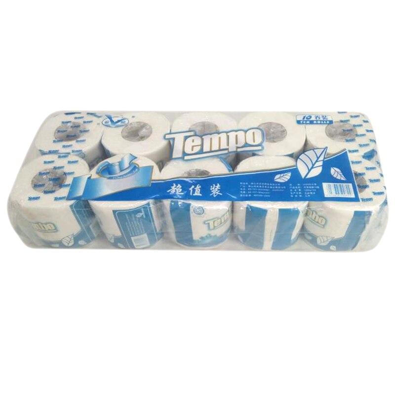 10Pcs 4 Layer Toilet Paper Toilet Paper Roll Toilet Paper Rolls Pack Toilet Roll Toilet Tissue Rolling Paper 10 Pcs Wc Papier