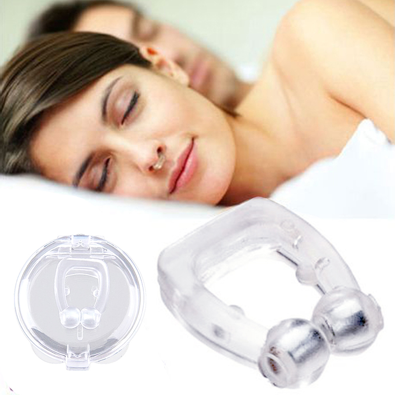 Silicone Magnetic Anti Snore Stop Snoring Nose Clip Sleep Tray Sleeping Aid Apnea Guard Night Device With Case Tools