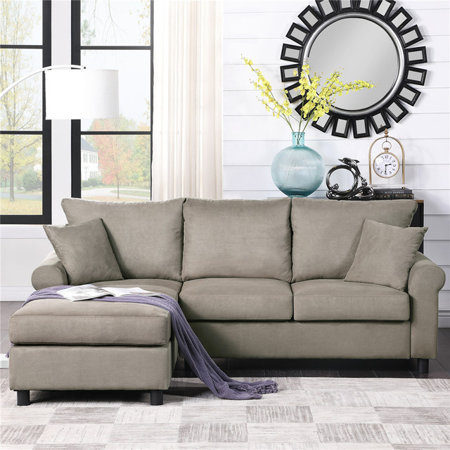 Nordic L Shaped Sectional Sofa Couch  3