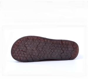Image 5 - ファッションレトロ手縫製シューズレディースフラット革ソフト底の女性の靴ソフトで快適なカジュアルシューズ女性ローファー