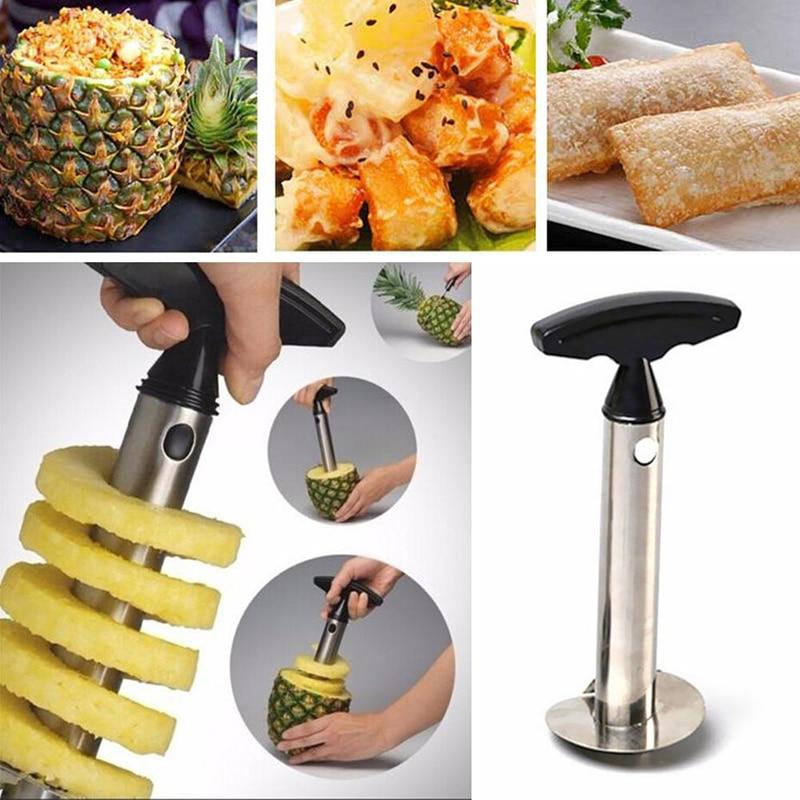 Овощечистка для ананасов из нержавеющей стали, кухонный нож, спиральная машина для резки ананасов, кухонные гаджеты и аксессуары