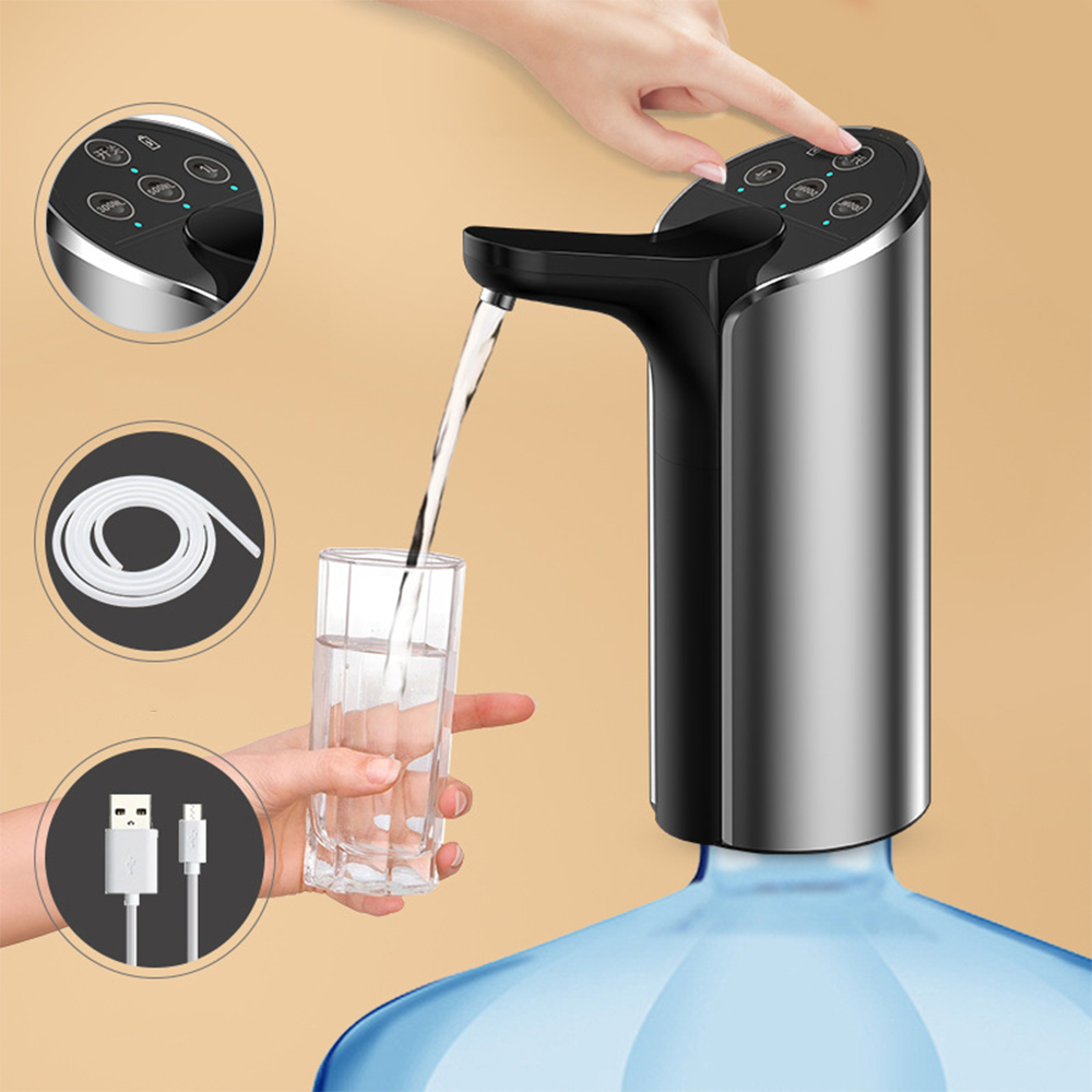 New Automatic Electric Water Dispenser Pump Stainless Steel Gallon Portable Drinking Bottle Switch Smart Wireless Water Pump New