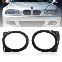 زوج من أغطية مصباح الضباب الأسود للسيارة BMW E46 M3 Style 2001 2002 2003 2004 2005 2006 غطاء مصباح الضباب الأيسر + الأيمن