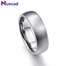 Nuncad Tungsten Carbide Ring High Polished Wedding Tungsten Ring Jewelry For Men 7mm Width Size 7 8 9 10 11 12