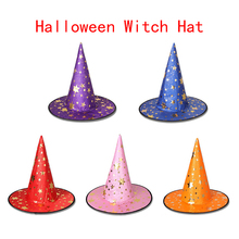 Witch Hats Costume-Accessories Dress-Decor Ribbon-Caps Masquerade Fancy Cosplay Party
