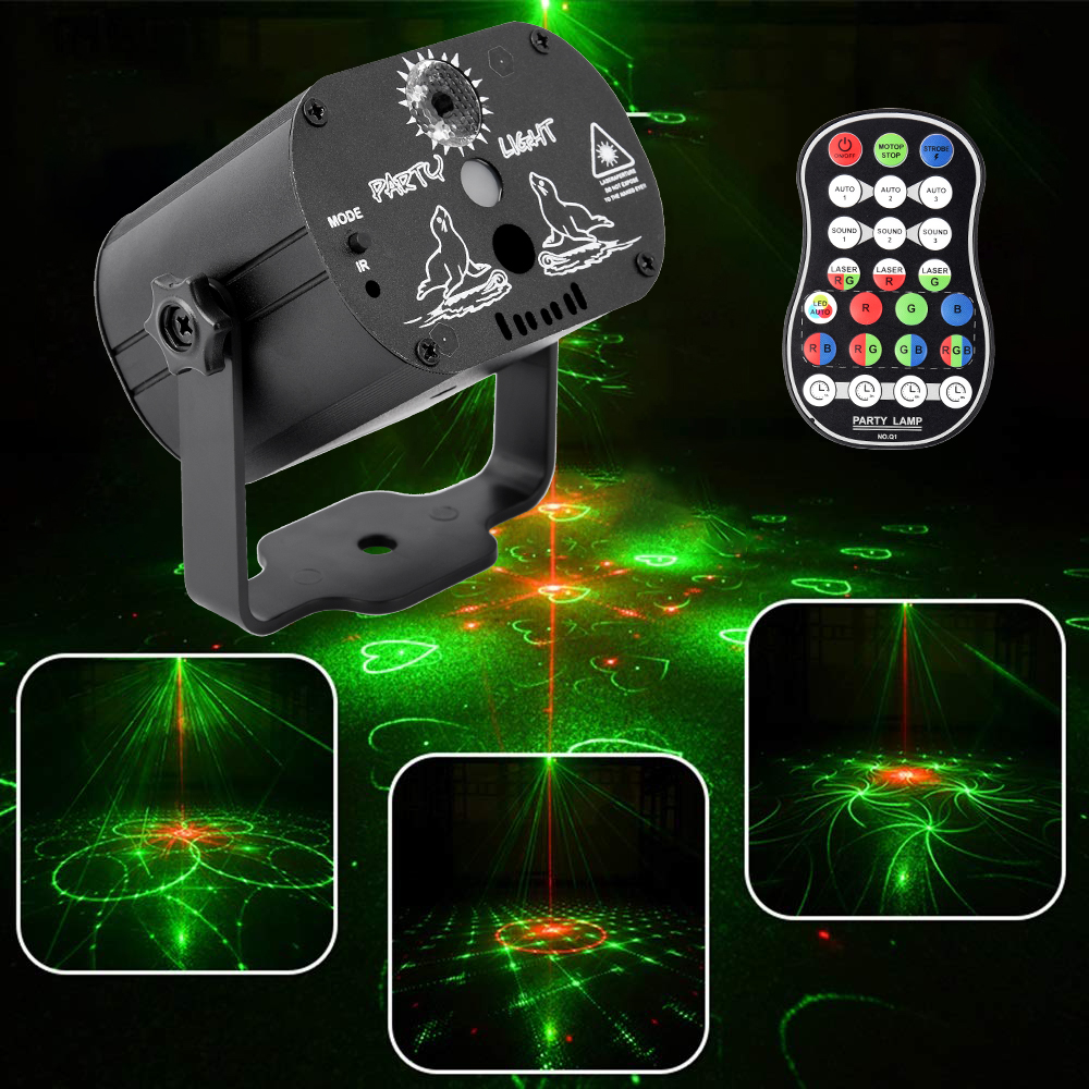 60 modelli RGB Luci del Palcoscenico di Controllo Vocale di Musica Led Della Discoteca del Partito Della Luce Laser Laser Show Proiettore Effetto Luci Luci Lampada con il Regolatore