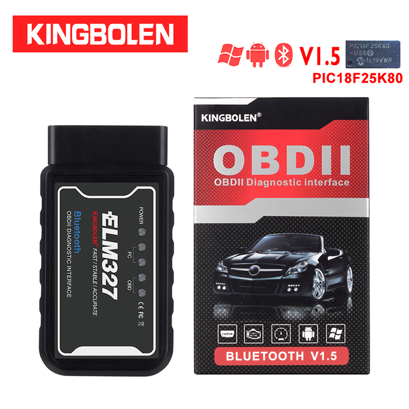 ELM327 Bluetooth Wifi V1.5 PIC18f25k80 Chip Diagnostic Scanner J1850 Protocol Elm 327 OBD2 For OBDII Vehicle Android/ios Torque