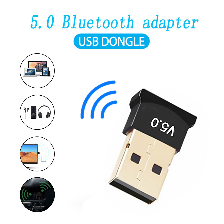 Usb Bluetooth Adapters Bt 5.0 Usb Draadloze Computer Adapter Audio Ontvanger Zender Dongles Laptop Oortelefoon Ble Mini Sender