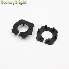 Rockeybright H7 자동차 헤드 라이트 어댑터 마즈다 3 LED H7 전구 홀더 어댑터 소켓베이스 유지 클립 led 헤드 라이트 전구