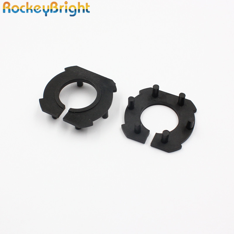 Rockeybright H7 Car Headlight Adapter For Mazda 3 LED H7 Bulb Holder Adapters Socket Base Retaining Clip For Led Headlight Bulbs