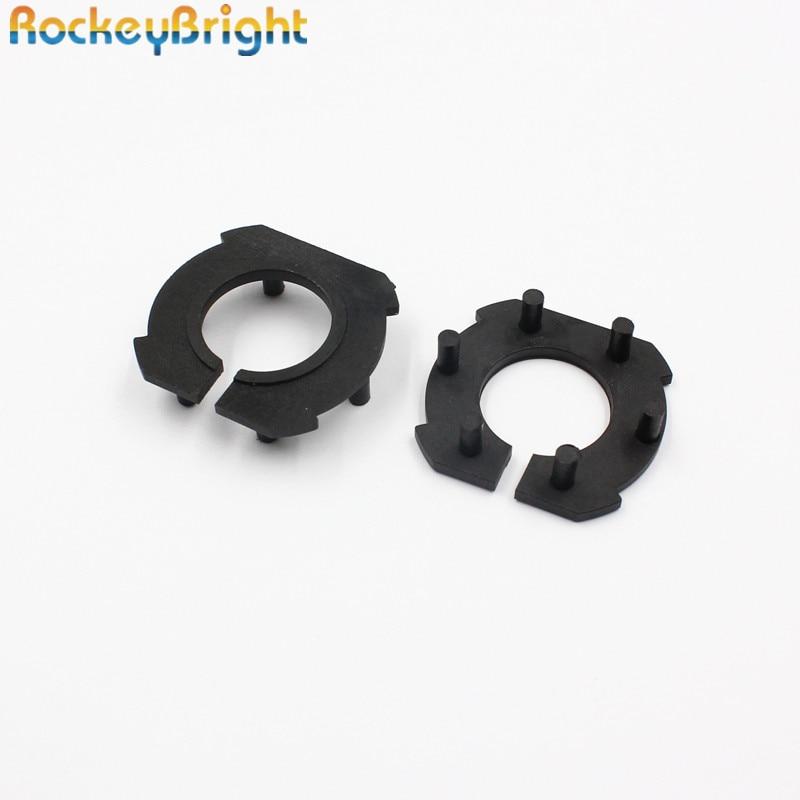 Rockeybright H7 Car Headlight Adapter For Mazda 3 LED H7 Bulb Holder Adapters Socket Base Retaining Clip For Led Headlight Bulbs