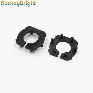 Image 1 - Rockeybright H7 Car headlight adapter for Mazda 3 LED H7 Bulb Holder Adapters socket base retaining clip for led headlight bulbs