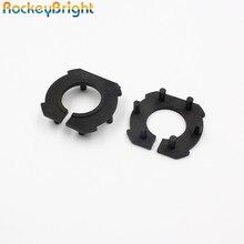 Rockeybright H7 araba far adaptörü için Mazda 3 LED H7 ampul tutucu adaptörleri soket tabanı için tutucu klip led far lambaları