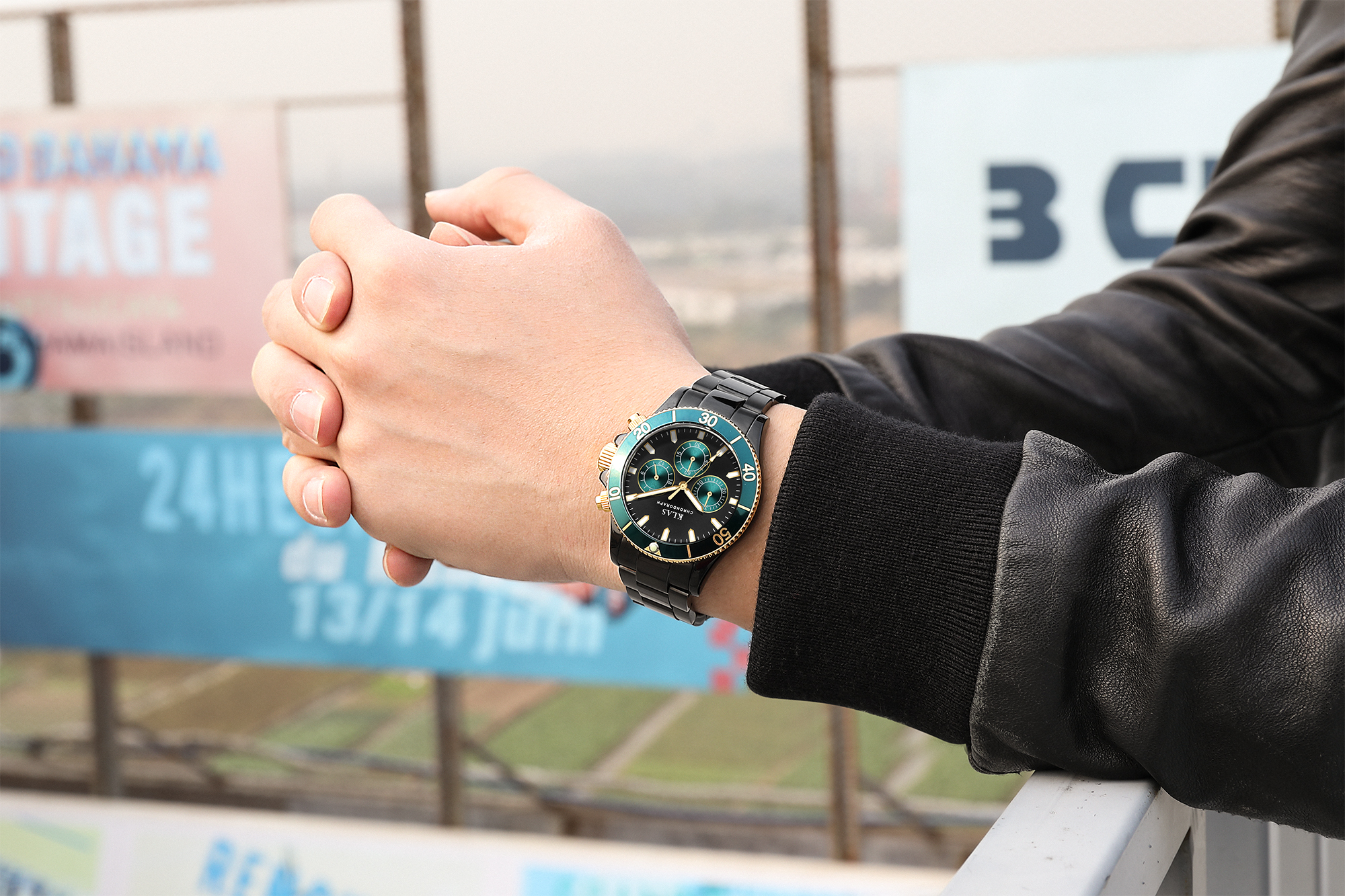 Klas aço inoxidável quartzo oem logotipo personalizado relógio shenzhen fabricantes