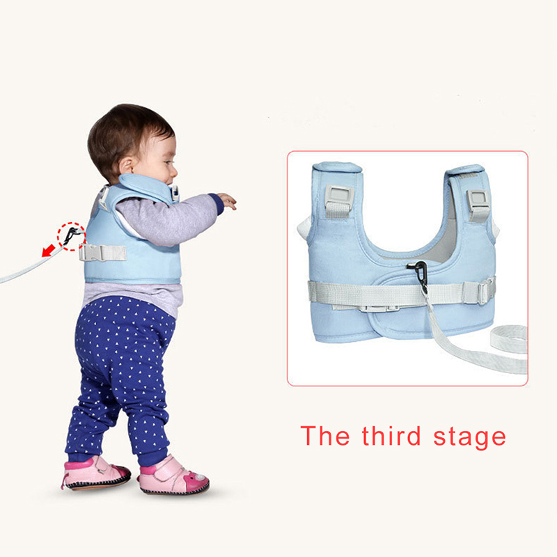 QINHU Stronger Baby Walker Blue Anti Fall Baby Traction Rope Protable Baby Harness Training Walking Baby Accessories