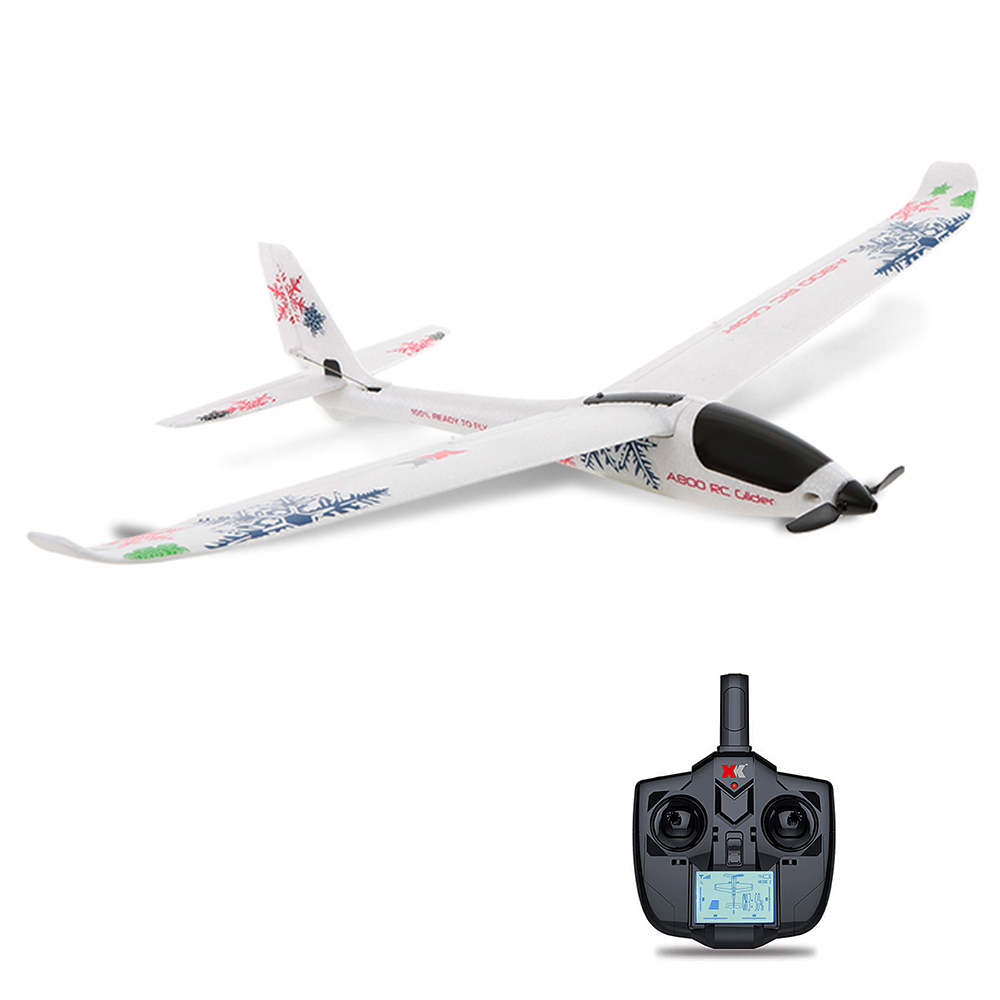 XK A800 4CH 780mm 3D6G System RC Glider Airplane Compatible Futaba RTF Remote Control Aircraft Toys for Kids and Adults image