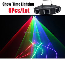 8Pcs/Lot 3 Lens Red Green Blue RGB Scanner Laser Light sector& Bar Laser DJ Party Show Club Holiday Home Bar Stage Lighting dj lighting 300mw blue laser light disco club bar stage laser lighting show page 4