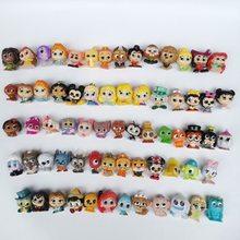 10-50 pçs original disney doorables princesa bonecas série 1 & 2 monstros dos desenhos animados brinquedo mini tamanho coleção rara sem dups presente crianças
