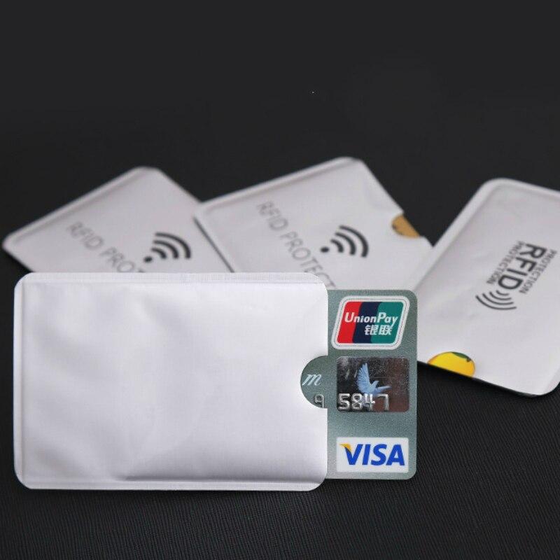 10Pcs Anti Rfid Colors Block Reader Lock Id Bank Credit Card Metal Protector New