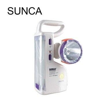 LED emergency light strong light bright 2 * 6W emergency light uses 6V 4AH lead-acid battery for home, office, corridor