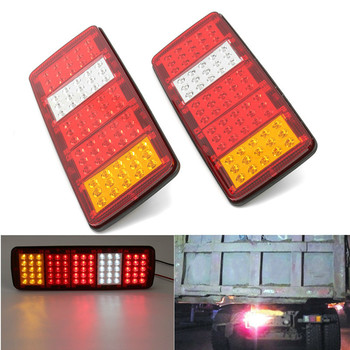 цена на 2PCS 12V TRAILER TRUCK CARAVAN REAR TAIL LIGHT LAMP BRAKE STOP SIDE INDICATOR