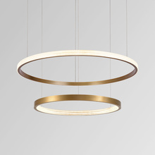 Aluminum ring light led suspension hanging light gold fixture modern design pendant lamp for living room/Kitchen nordic home