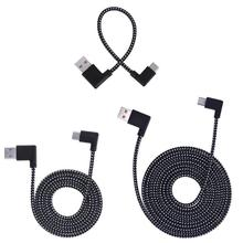 Connector USB Charging-Cable Angle Type 90-Degree Transfer-Cord Wire-Line Braided Data-Sync