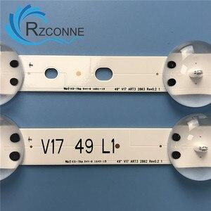 """Image 5 - LED Backlight strip 12 lamp For LG 49"""" V17 ART3 TV 49LV340C JB3B1591A02499 49UV340C 49UJ6565 6916L 2862A 2863A LC490DGG 49uj670v"""