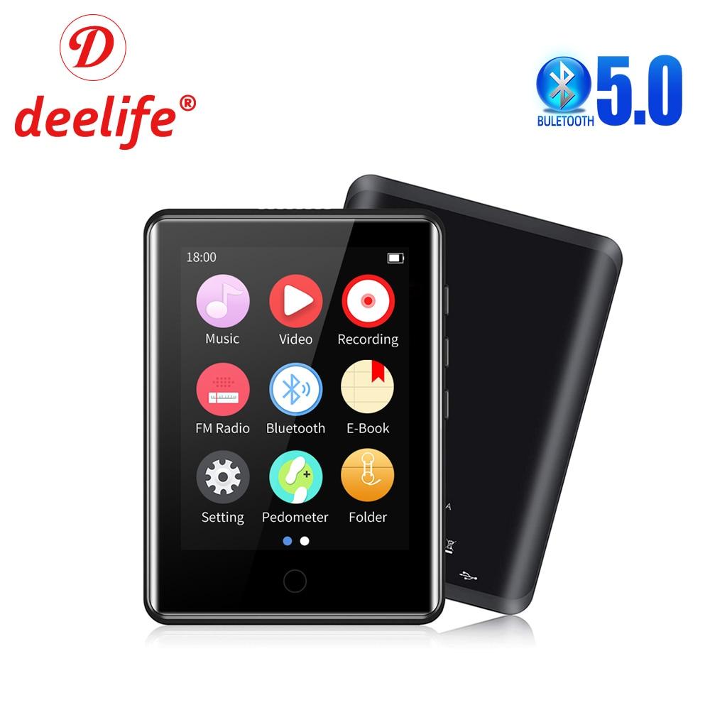 Deelife Mp3 Play Bluetooth 5,0 полный сенсорный экран портативные музыкальные плееры с fm-радио электронная книга Запись видео шагомер