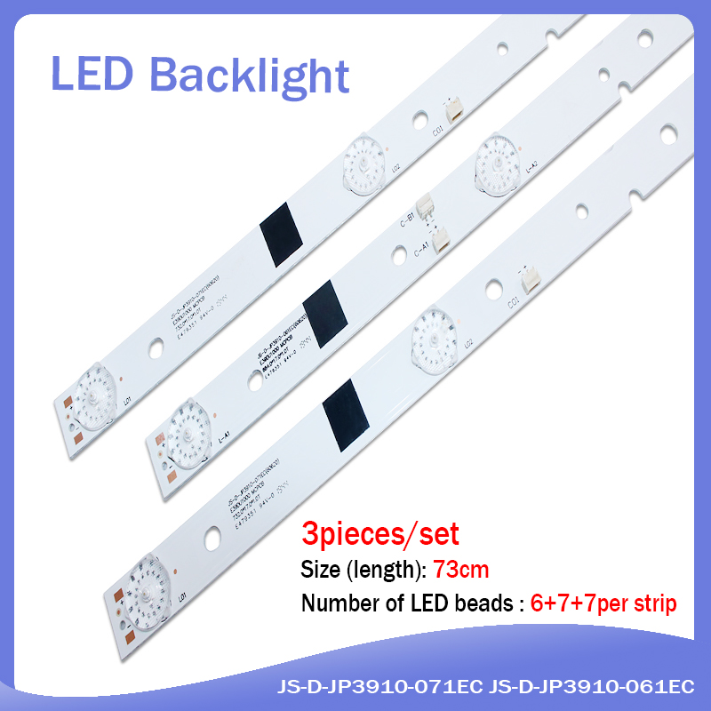 1set=3pcs Led Backlight For LED39C310A Led Strip JS-D-JP3910-071EC JS-D-JP3910-061EC