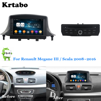 Car radio Android multimedia player 4G RAM For Renault Megane III Scala 2008~2016 Car touch screen GPS Support Carplay image