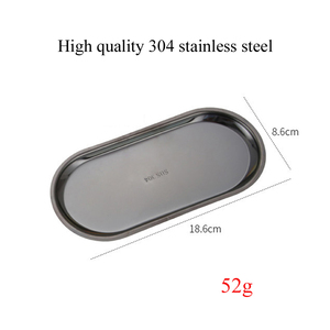 High Quality Stainless Steel Storage Tray Rose Gold Silvery Black Oval Fruit Plate Jewelry Display Metal Tray Storage Supplies