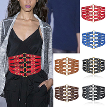 NEW Tie Wide Belts belt Elastic slim corset body shaper blac