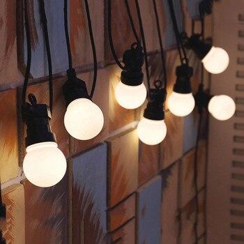 Thrisdar 8M 13M G50 Girlande Globe Glühbirne Fairy String Licht Outdoor Backyard Patio Hochzeit Party Straße Globus Girlande licht
