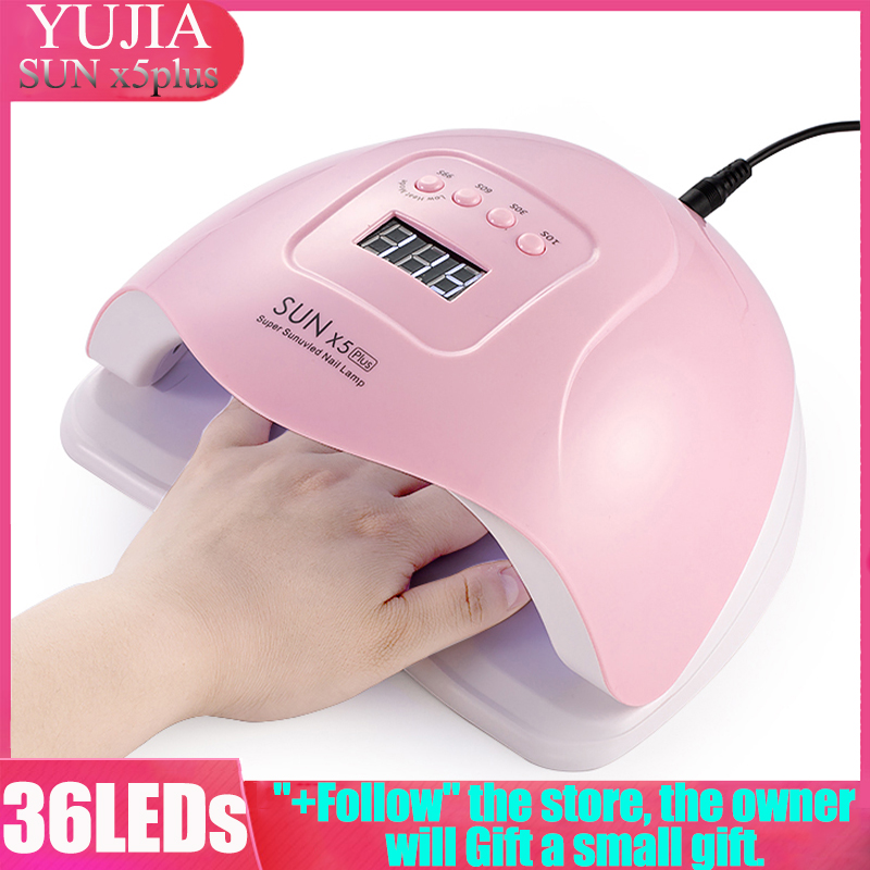 Profession Lamp For Manicure Ice Nail Lamp UV Lamp Nail Dryer 80W 36 LEDs LCD Display Gel Polish Auto Sensor Timer Nail Dryer