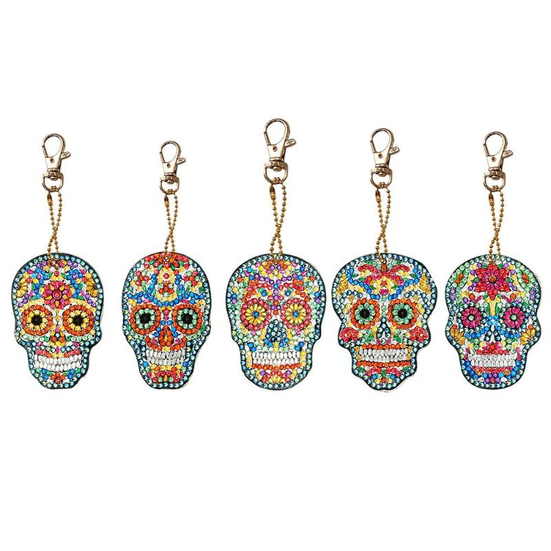 4pcs DIY Full Drill Special Shaped Diamond Painting Animals Keychain Full-bore Special-shaped Bag Pendant Birthday Gift