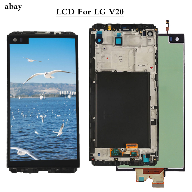 New For <font><b>LG</b></font> <font><b>V20</b></font> LCD <font><b>Display</b></font> VS995 VS996 LS997 H910 Touch Screen Digitizer With Frame Full Assembly Replacement Parts 5.7inch image